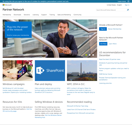 Microsoft Partner Network - Portal Site