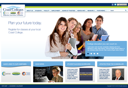 Coast Community Colleges District - Marketing Site