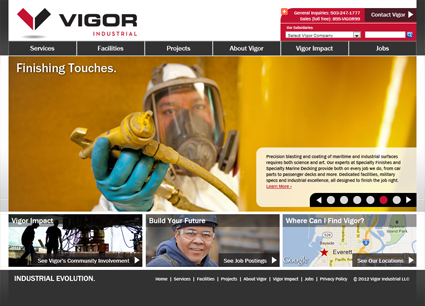 Vigor Industrial - Marketing Site